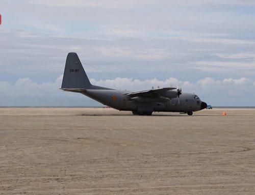 Lockheed C-130 Hercules-fly landede forleden på stranden ved Lakolk på Rømø