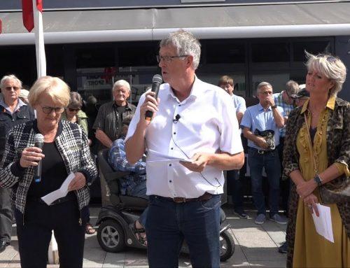 Åbningsfest på gågaden i Sønderborg