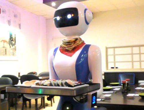 Robot serverer sushi